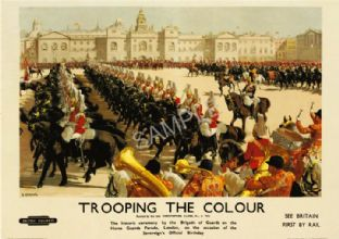 Trooping of the colours, London